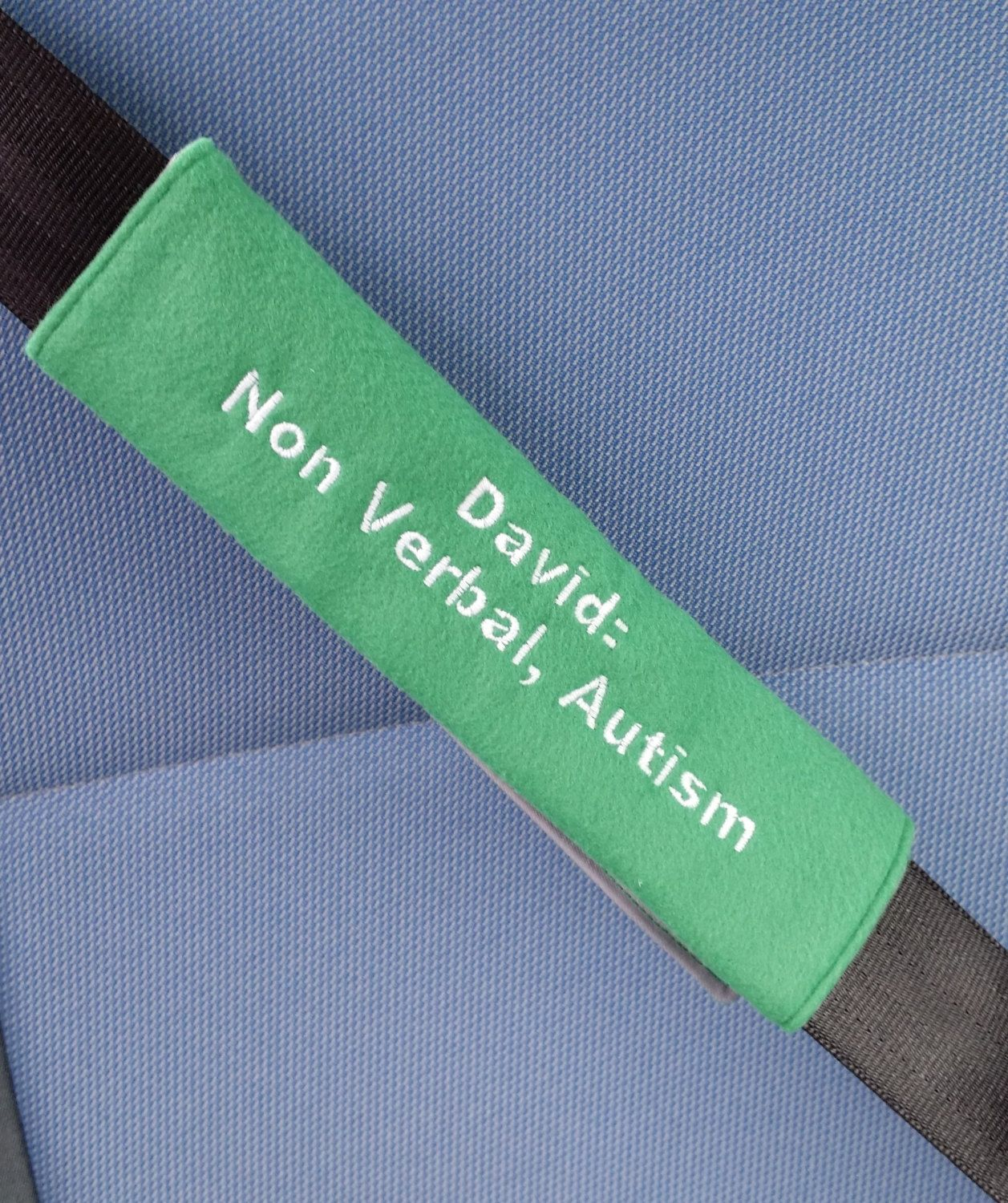 Child Seat Belt Cover With Medical Information In Case Of