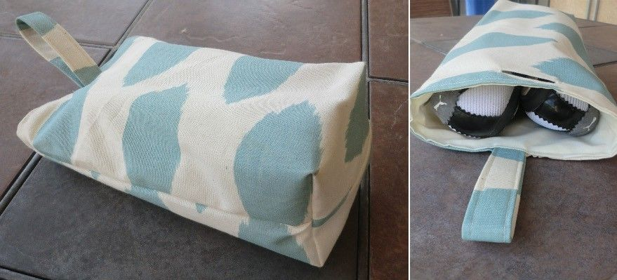 Travel Shoe Bags Technique A Finished Opening In Fabric