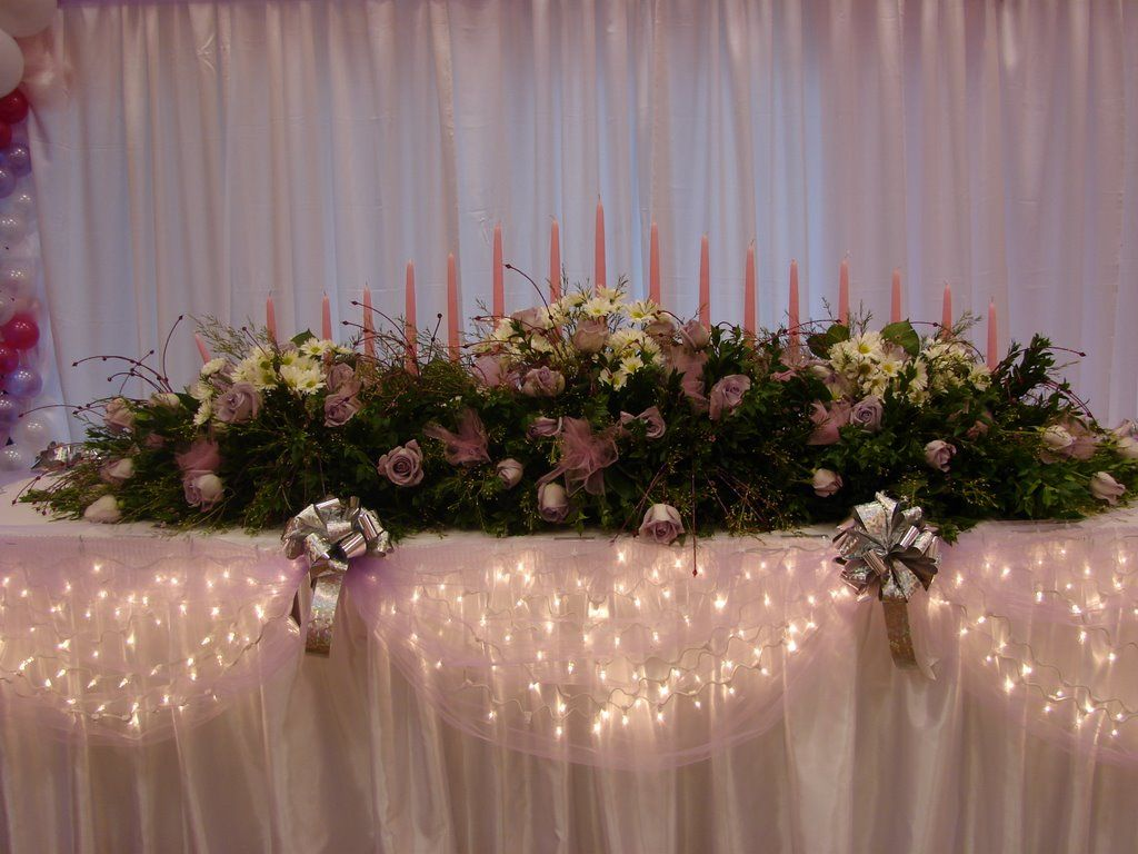 Classroom Decoration Ideas For Quinceaneras ~ Sweet flower arrangements in teal classroom seating