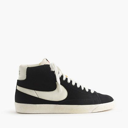 Suede Vintage WhiteSize Men's Nike Blazer High SneakersBlack 54L3AjqR