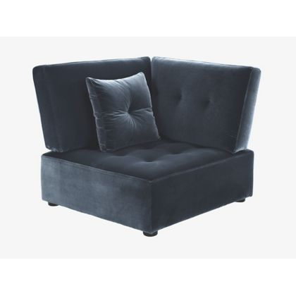 Habitat Reiko Left Arm Corner Seat Unit Dark Grey At Homebase Be Inspired And Make Your House A Home Buy Now Modular Sofa Corner Unit Corner Sofa