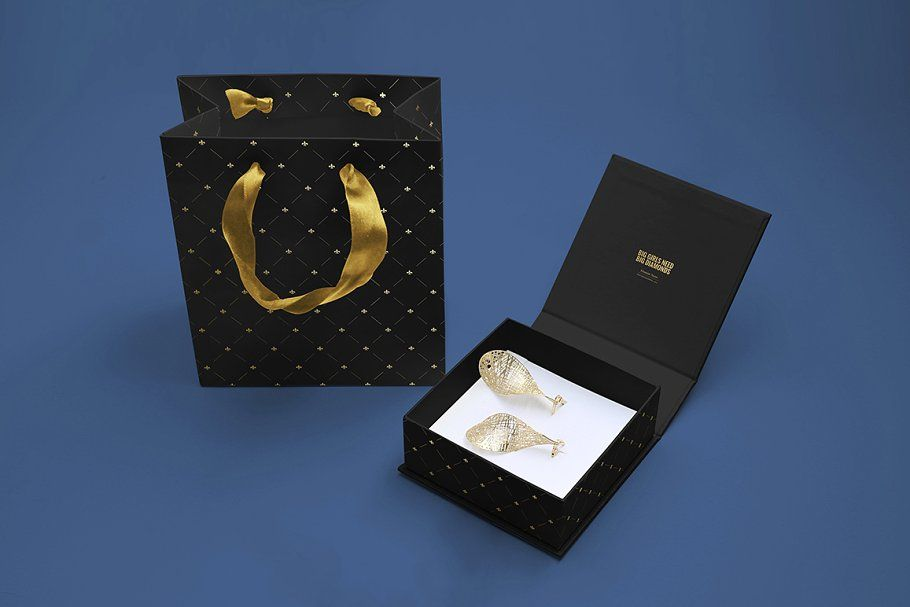 Download Jewelry Box Mockup Set Box Mockup Jewelry Box Foil Stamping