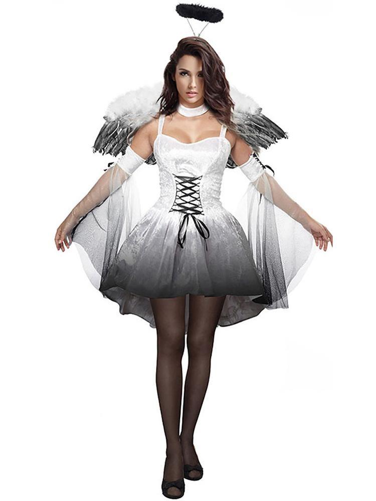 9d54c81786d8 Fallen Angel Dress Cosplay Costume Dress Halloween Costumes Online, Halloween  Festival, Holidays Halloween,