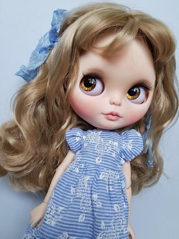 BLYTHE Doll Custom TBL Blythe white skin as a gift at a discount #dollcare