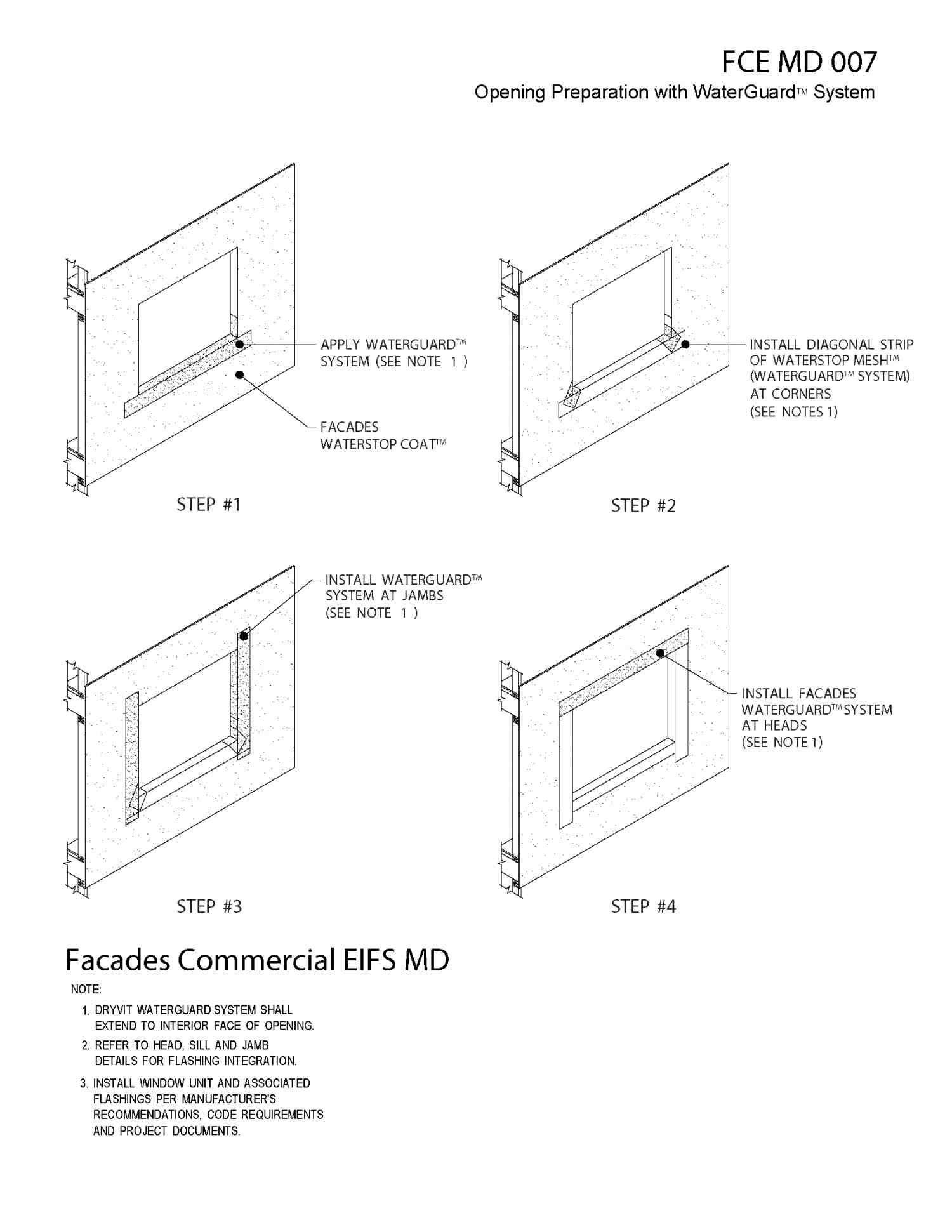 Eifs Wall Flashing Detail