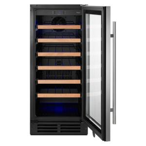 Whirlpool 15 Undercounter Wine Cellar In Stainless Steel With Towel Handle Bar Wuw35x15ds The Home Depot In 2020 Best Wine Coolers Wine Cellar Thermoelectric Wine Cooler