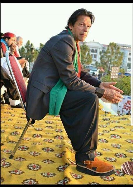 d0e1272e818 Kaptaan Chappal ! Even our kaptaan khan knows how to look fashionable .  Visit our website for variety of Kaptaan Chappals at www.baaz.pk