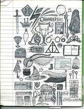 Potter Frenchy Party - Eine Party bei Harry Potter: Harry Potter und Kritzeleien, Schriftzüge, Zentangles und andere magische Zeichnungen - #frenchy ...