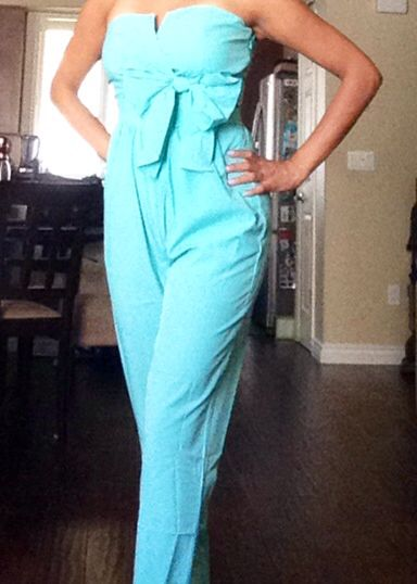 Jumpsuit in Tiffany Blue with Bow | Playing Dress Up ...