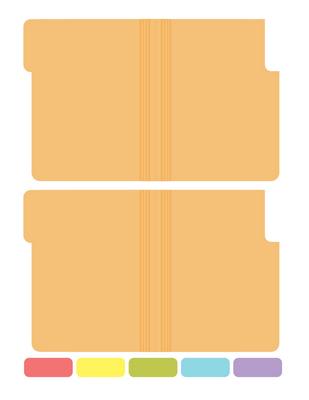 Printable Mini File Folders Miniature Medical File Folder Printable Folder