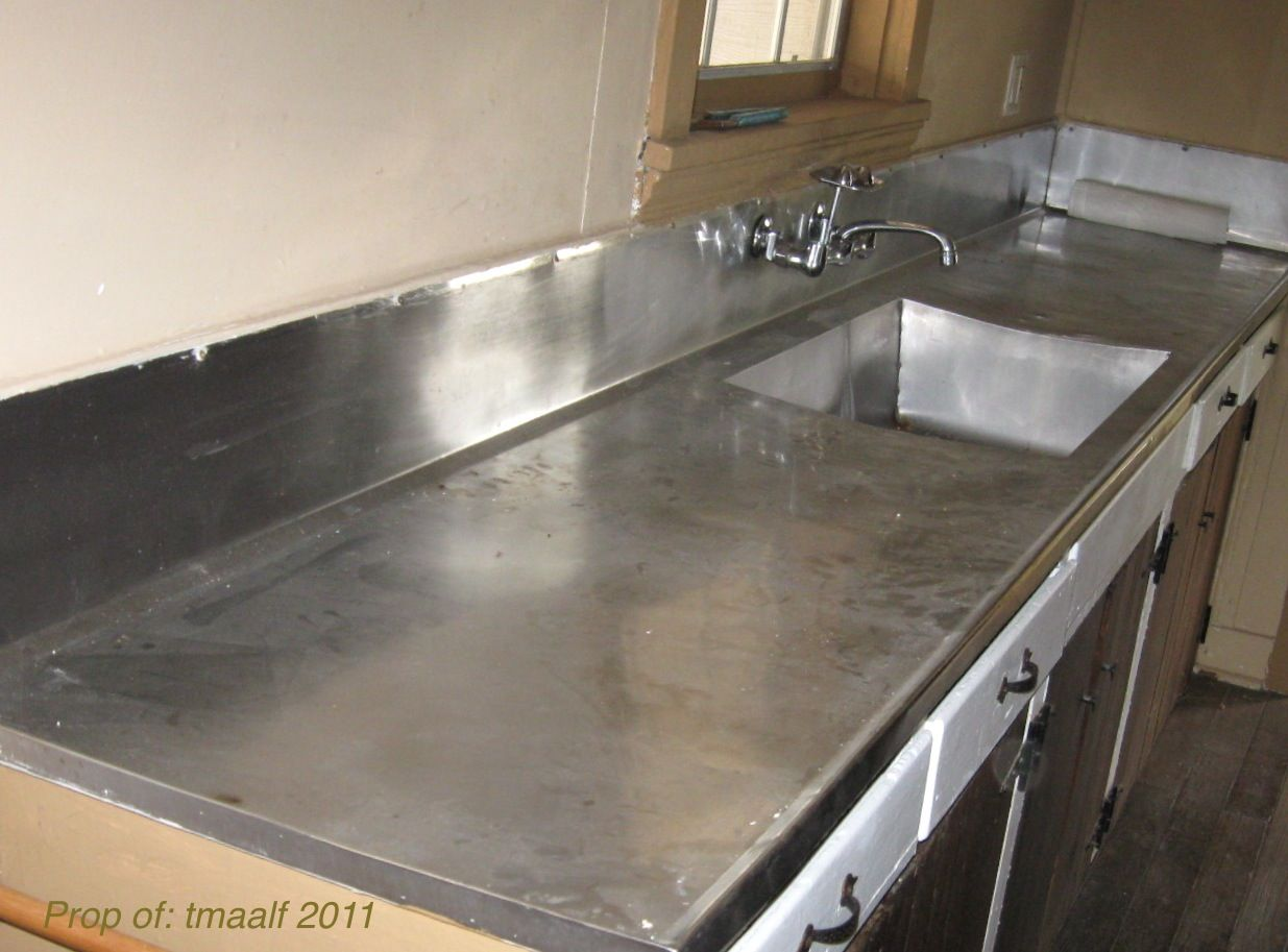 Stainless Steel Butchers Counter Kitchen Countertops Pictures