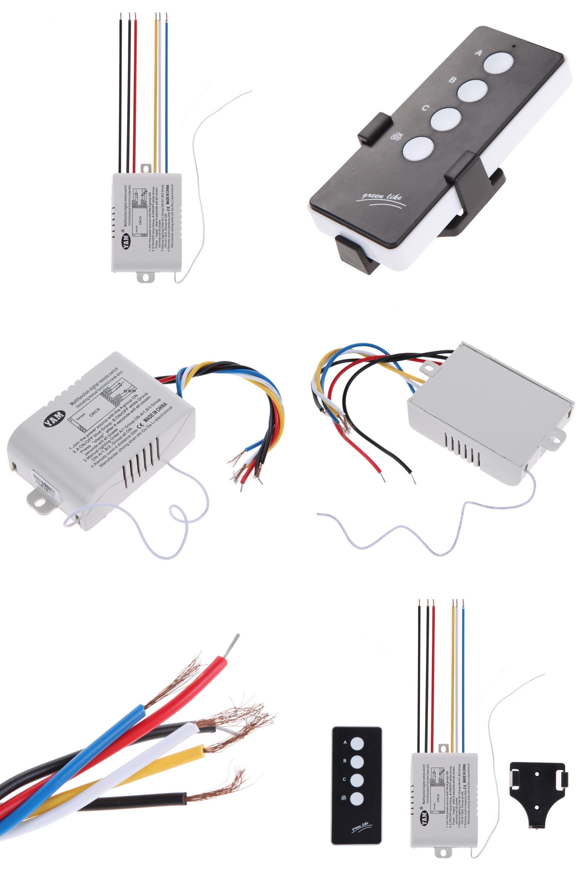 Visit To Buy 3 Way Port On Off 220v 3000w Lamp Led Light Digital How Wire A Switch Plug Outlet Wireless Remote