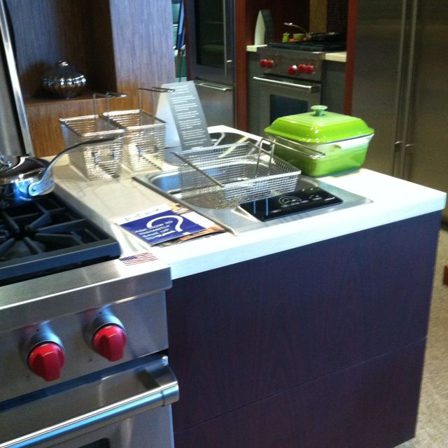 Built In Deep Fryer Kitchen Home Kitchens Home