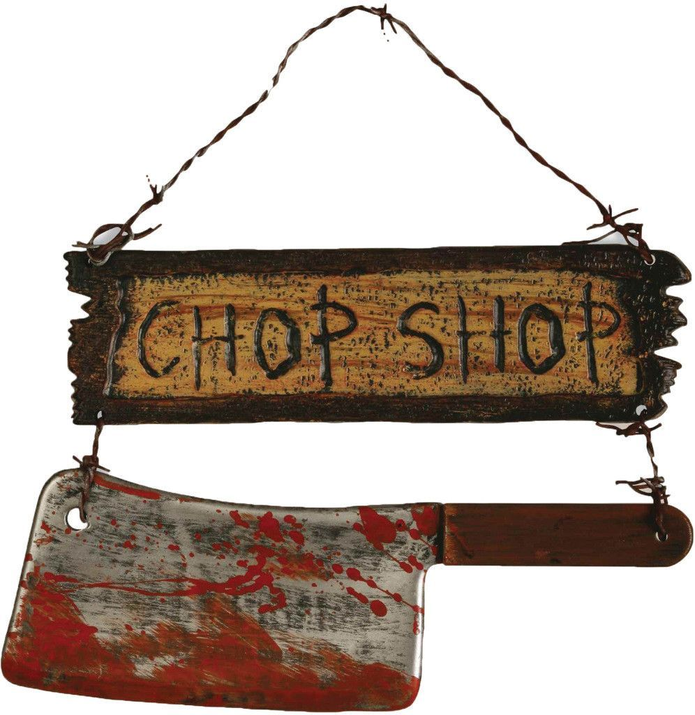 halloween decorations: chop shop sign Case of 2