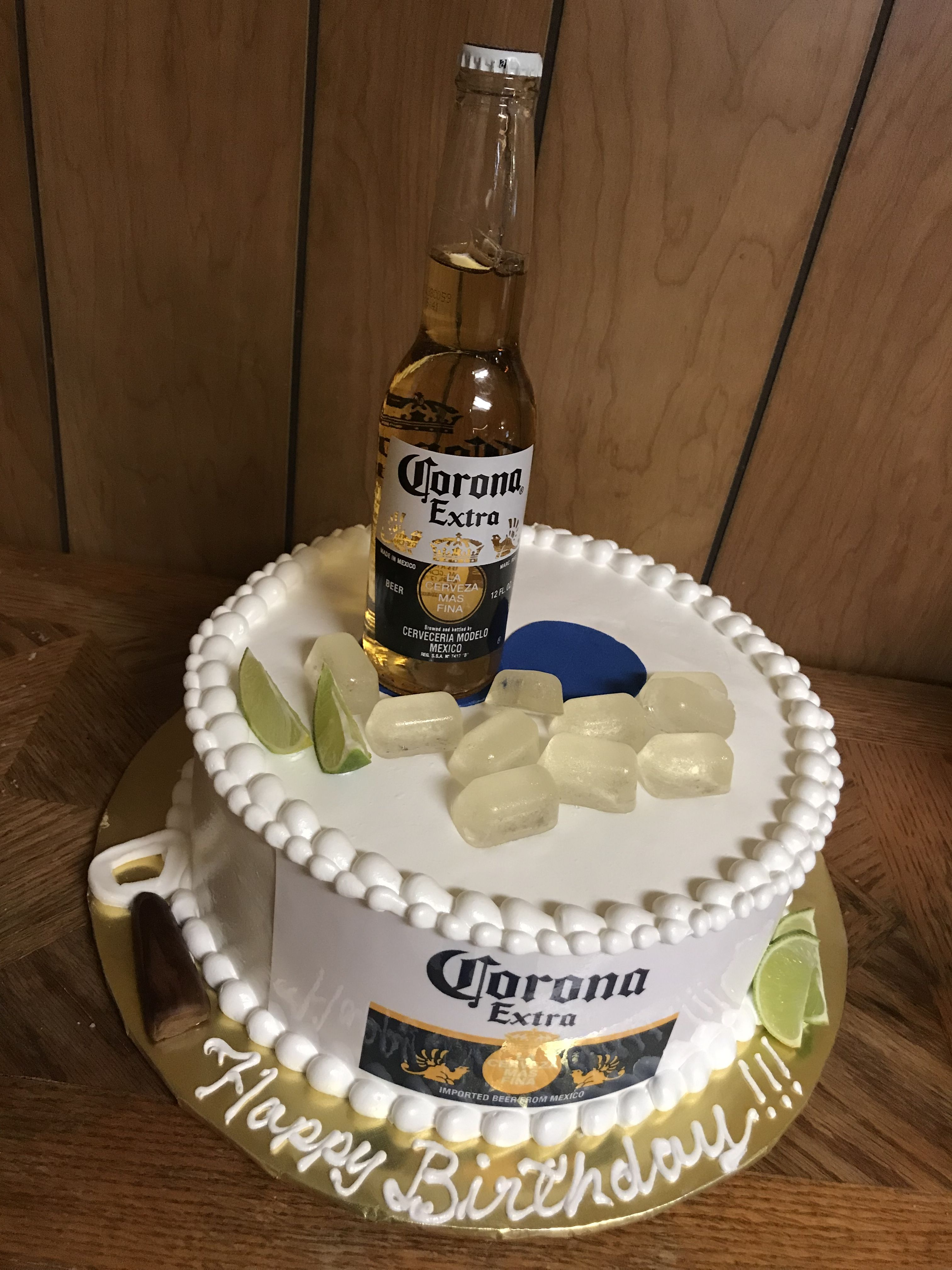 Corona Beer Cake Beer Cake Birthday Beer Cake Birthday Cake Beer