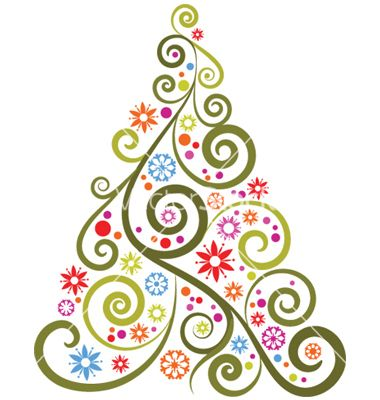abstract christmas trees | christmas invite ideas | pinterest