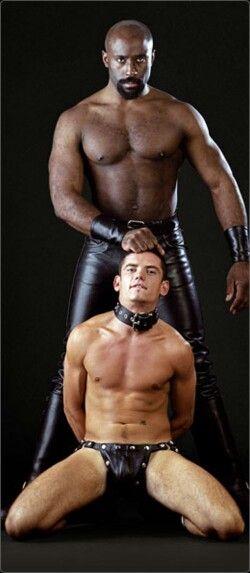 Gay black men in leather