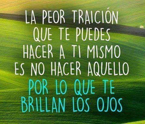 Encuentra lo que te apasiona y no te traiciones a ti mismo... Te lo comparto VIA => http://JoseCFernandez.com