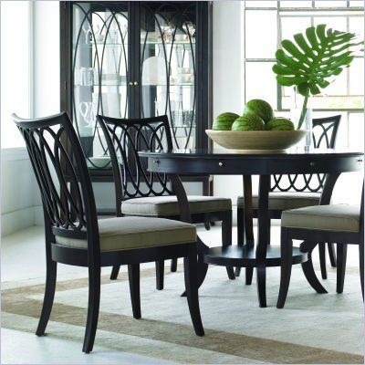 Stanley Furniture Hudson Street Round Casual Dining Table In Dark Entrancing Stanley Dining Room Set Design Inspiration