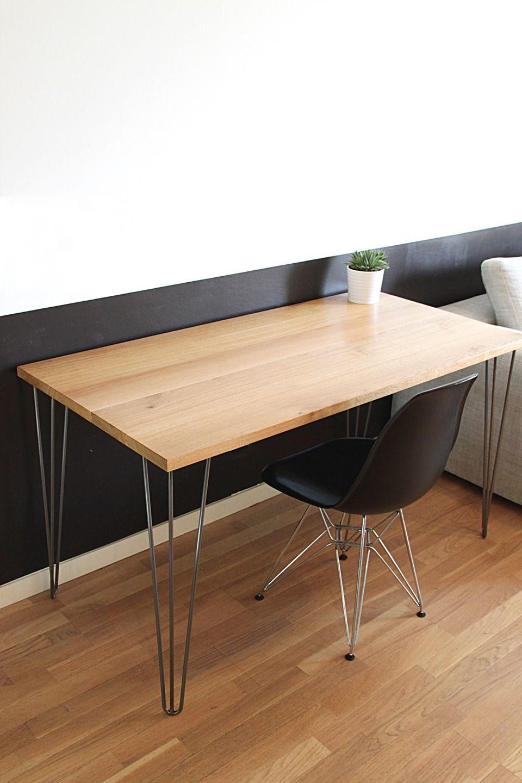 Bureau Design Bois Massif Et Metal Idées Créa Pinterest Desk