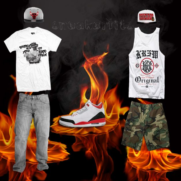 red jordan outfits