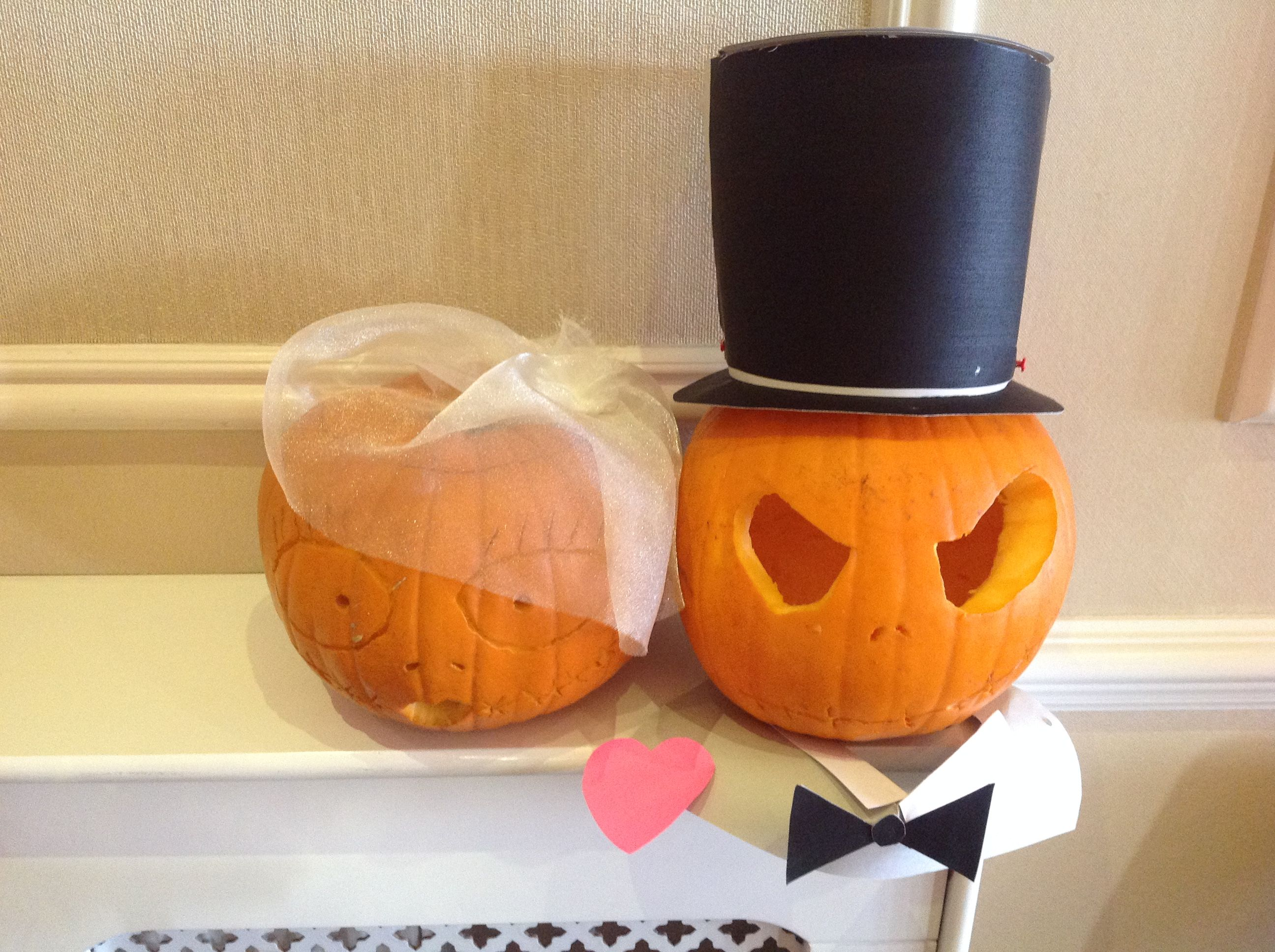 Pumpkin bride & groom