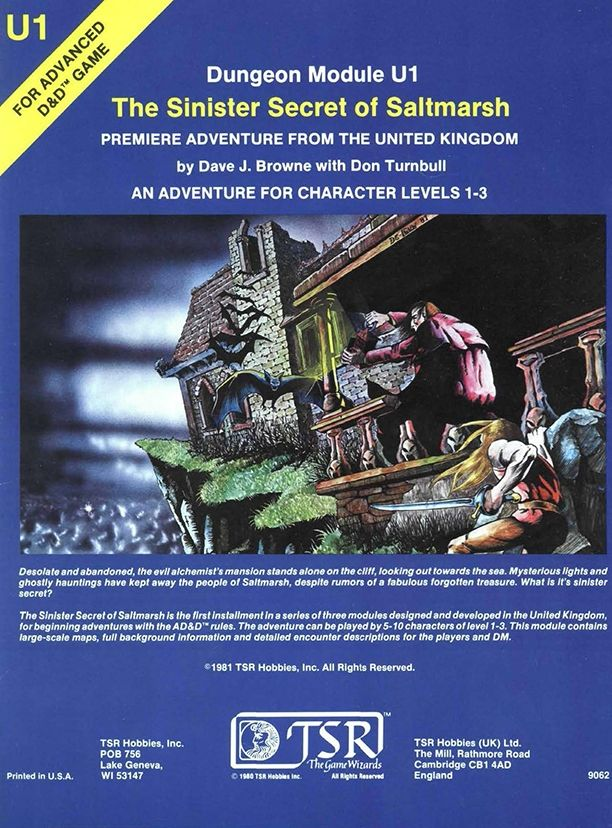 U1 The Sinister Secret Of Saltmarsh 1e Book Cover And