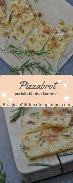 {Spontane Gäste} Knuspriges Last-Minute-Pizzabrot #fingerfoodrezepteschnelleinfach