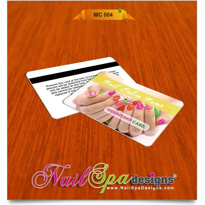 Membership Card template for Nail Salon Visit wwwNailSpaDesigns - membership card template word