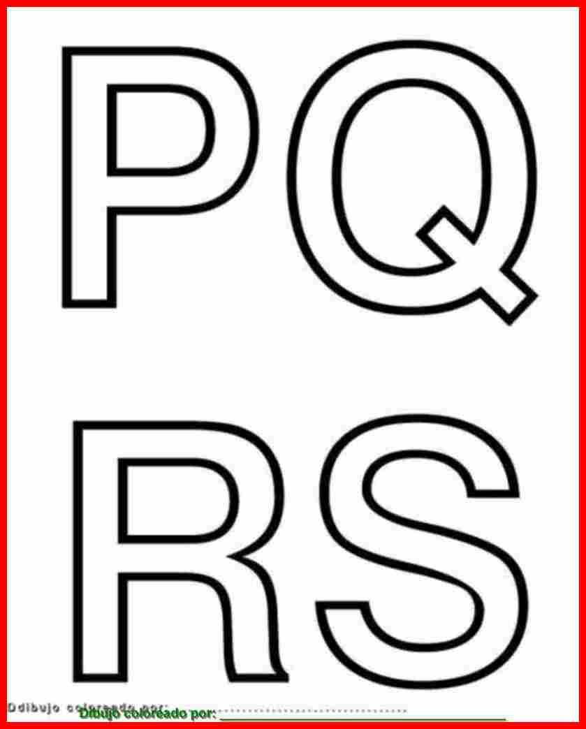 Letras P, Q, R, S. Para imprimir, colorear, pintar, decorar. | El ...