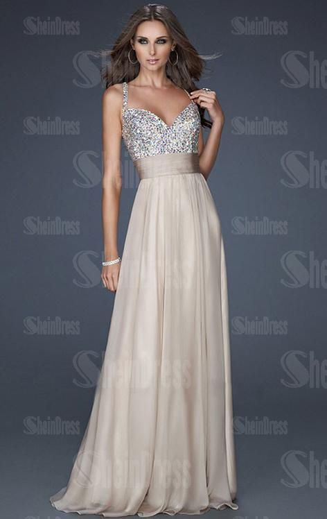 2014 Floor Length Watermelon Evening Prom Dress LFNAE0073, Shop Prom with SheinDress.co.uk