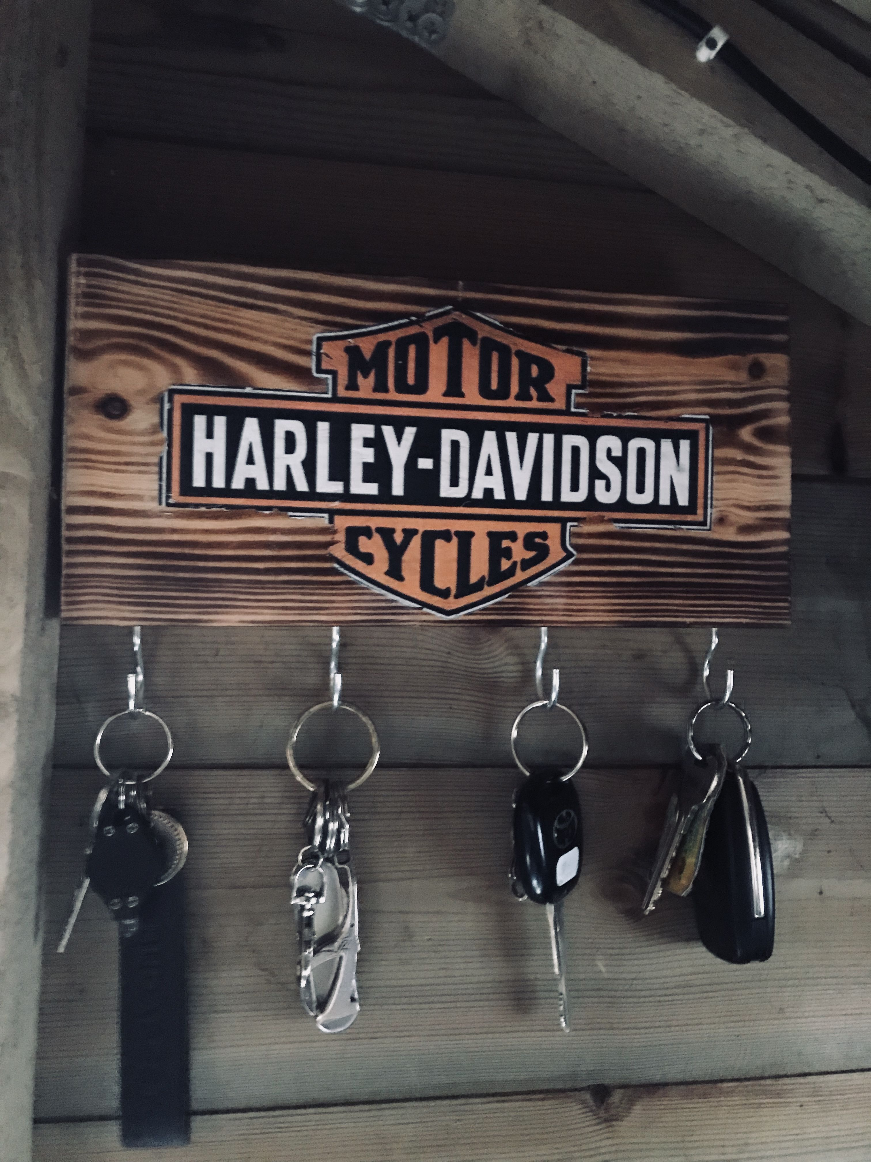Wall Mount Biker Gear Helmet Hook Fatboy Keyring Holder Motorcycle Key Hanger