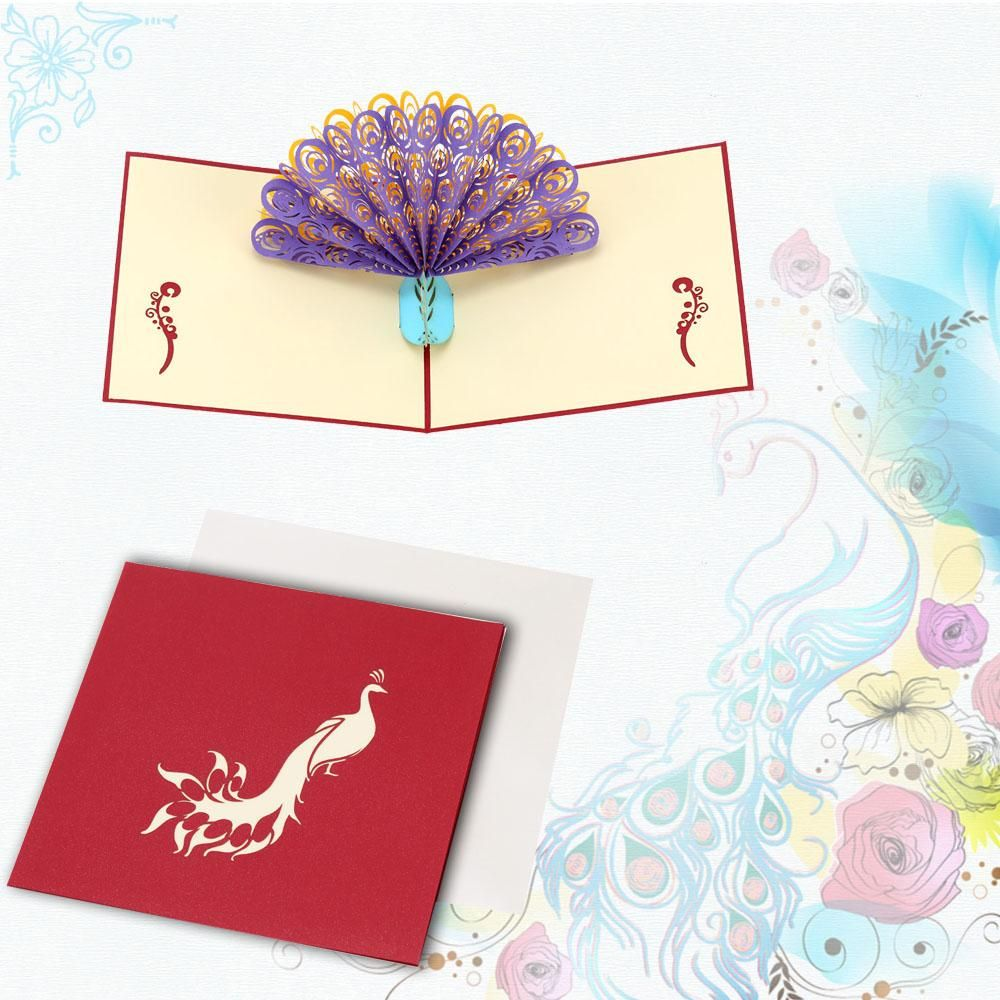 Perfect 3d pop up birthday wedding party card peacock design perfect 3d pop up birthday wedding party card peacock design kristyandbryce Gallery