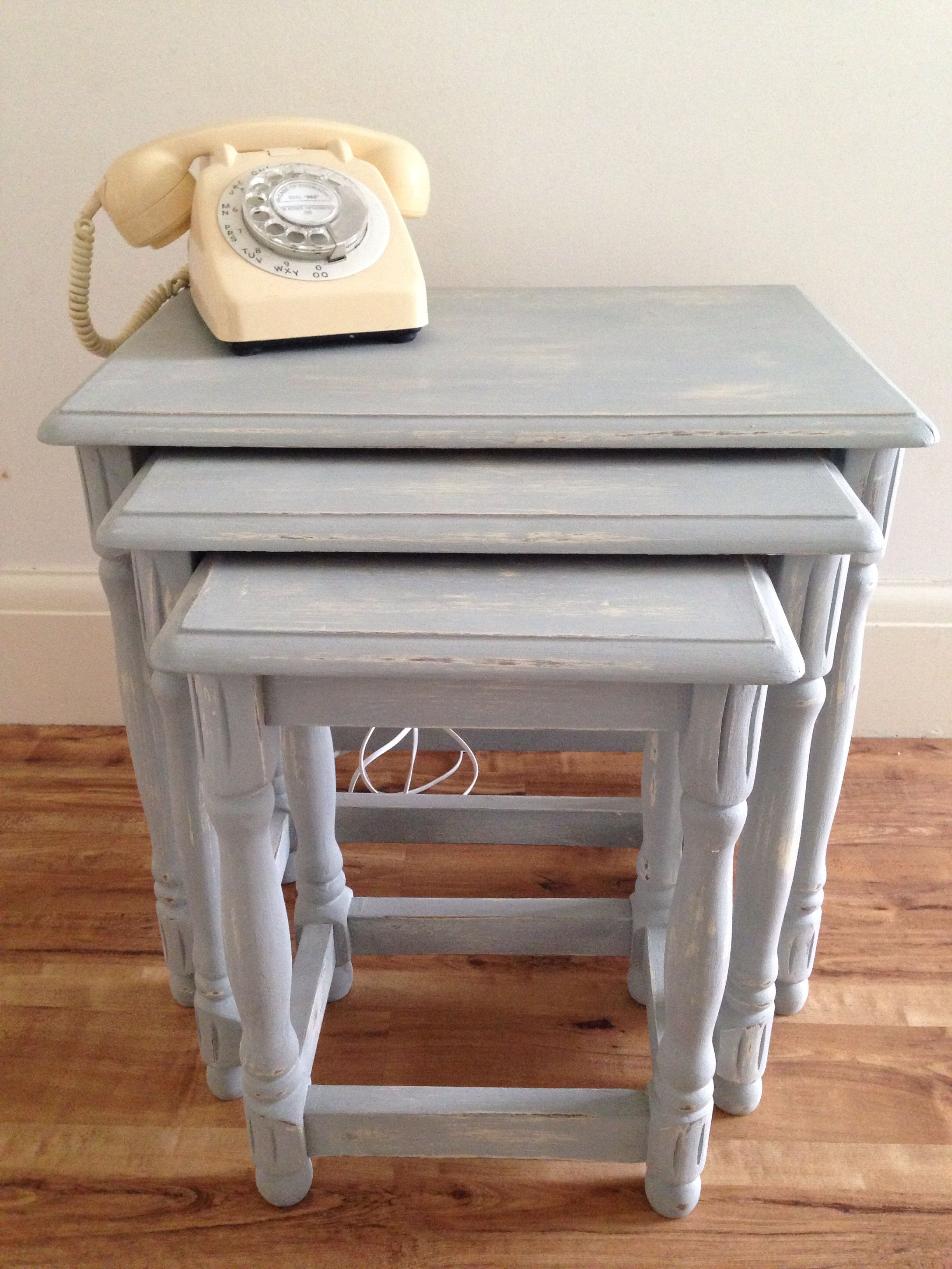Shabby Chic Nest Of Tables Shabby Chic Nest Of Tables Recycled
