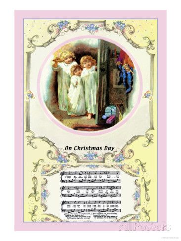 On Christmas Day C 1885 Prints Walter Crane Allposters Com Framed Poster Print Painting Prints Walter Crane