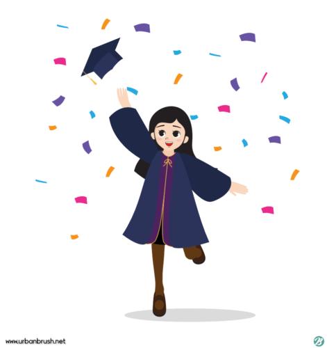 Photo of graduation vector #abschluss #abschlussfeier ai free graduate vector download, #…