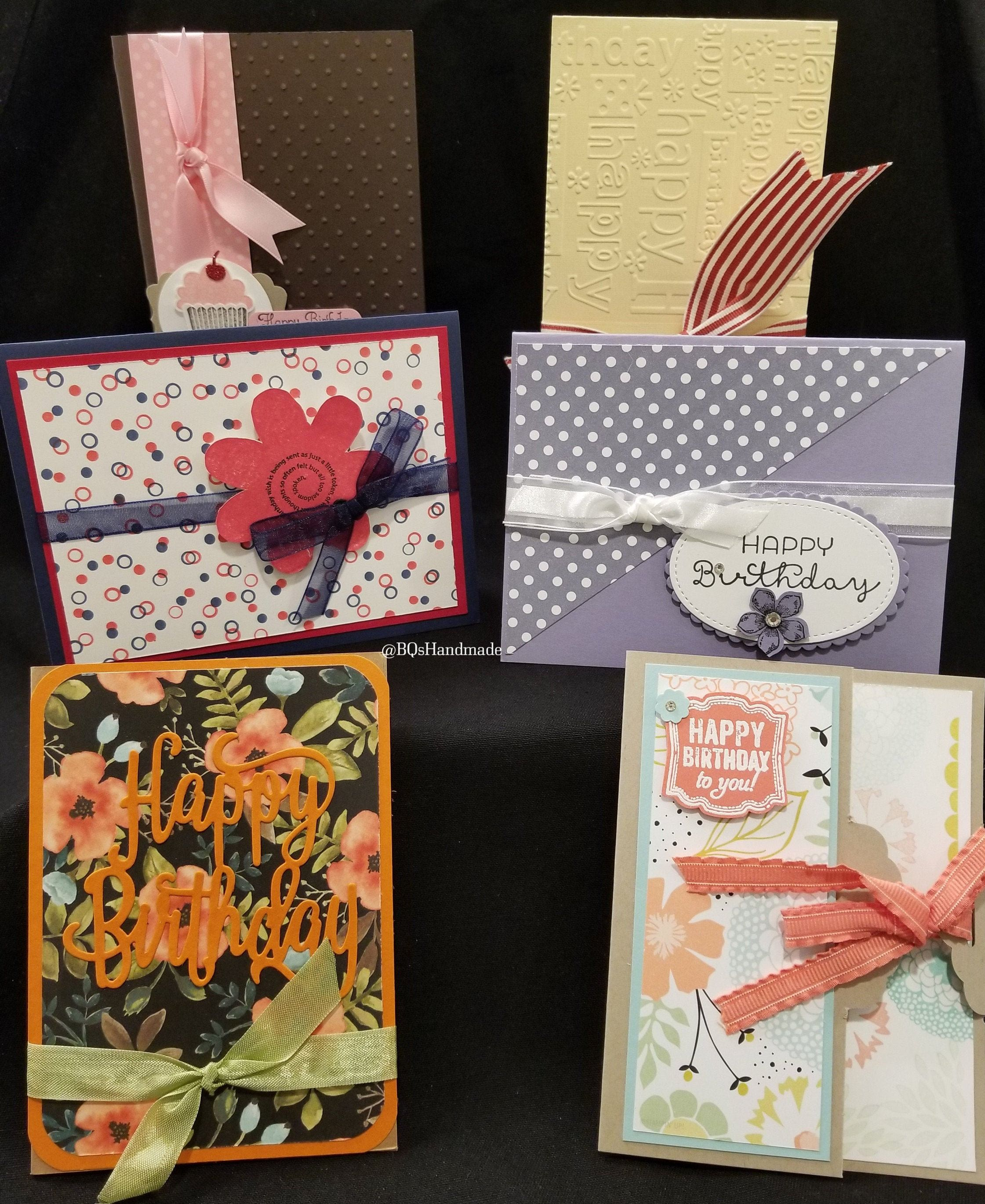 Nature And Ribbon Happy Birthday Card Bundle Pack Of 6 Etsy Cards Handmade Happy Birthday Cards Birthday Cards