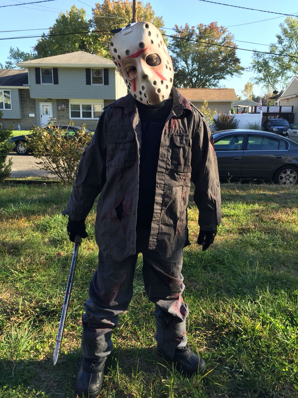 Home Made Jason Voorhees Costume Idea In 2019 Scary