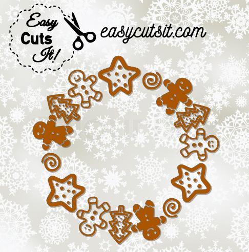 Download Christmas Cookie Monogram Frame ~ SVG, DXF, EPS, PDF plus ...