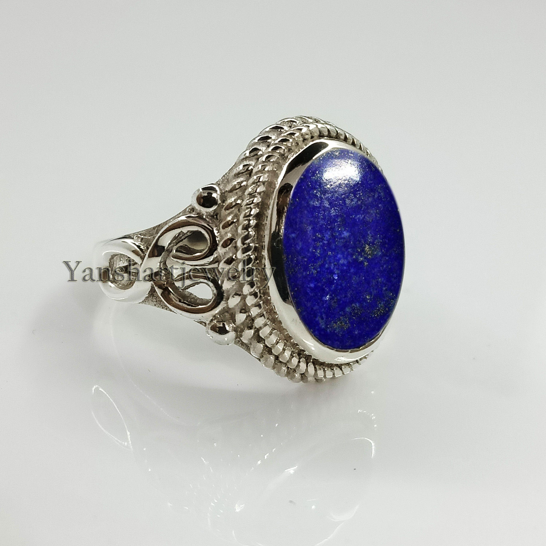 Women/'s Ring Designer Ring Gemstone Ring 925 Sterling Silver All Size Fashion Ring Gorgeous Real Natural LAPIS LAZULI Ring Gift Ring