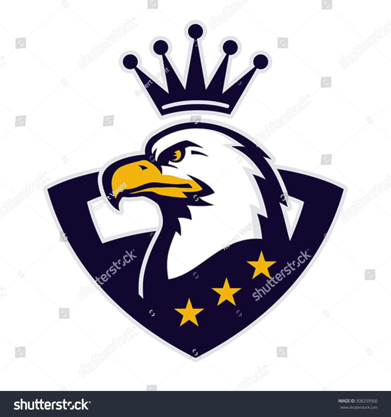 mascot with crowned american eagle logo design logodesign vector illustration eagle crown vector illustration by robert voight  [ 1500 x 1600 Pixel ]