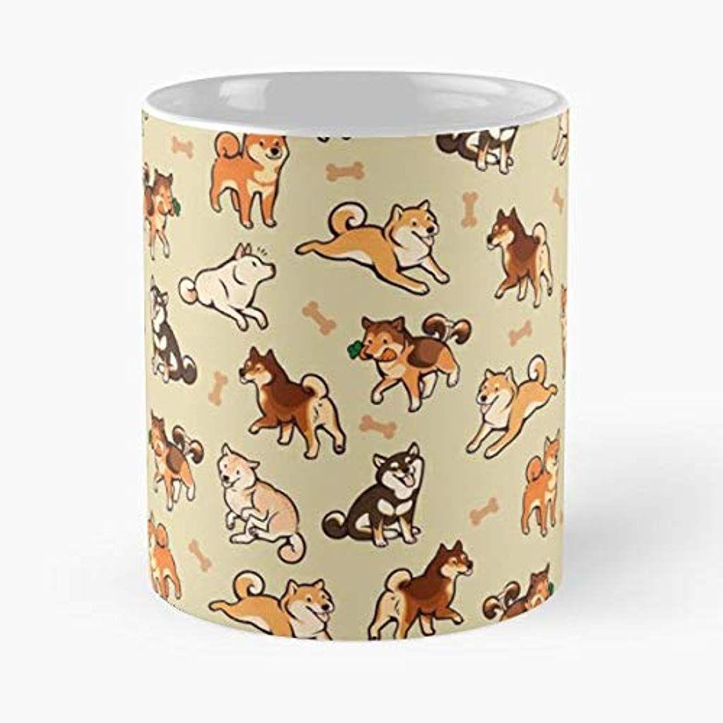 Best 11 Ounce Ceramic Coffee Mug Gift Shiba Inu Dog Doge Pattern Cute Yellow Mug Coffee Mugs For