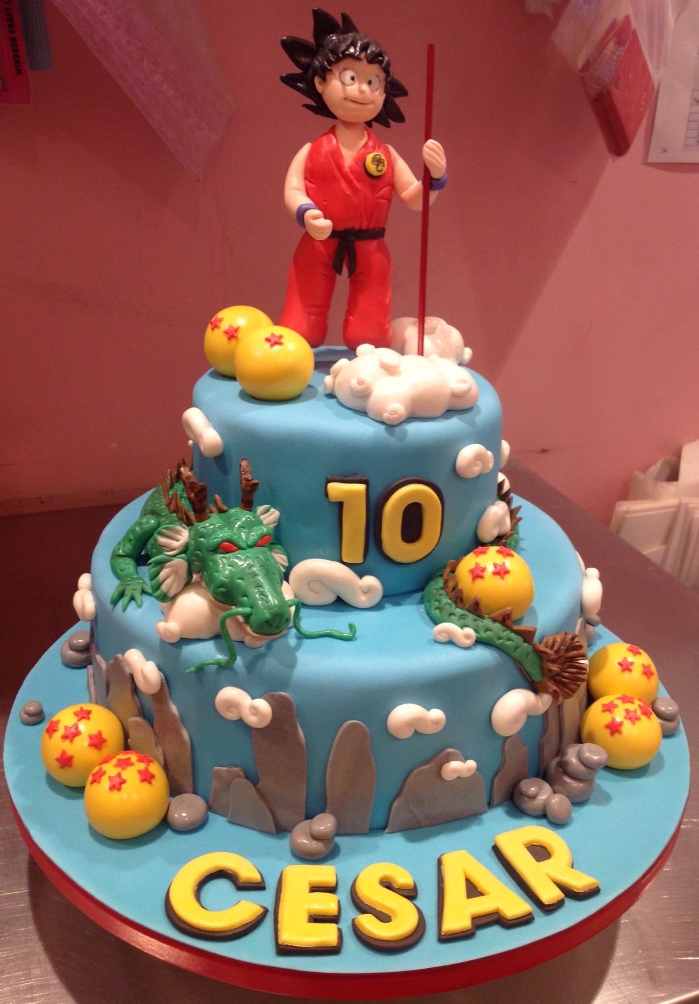 Tarta de Dragon Ball  Tartas in 2019  Birthday Cake Cake und Desserts