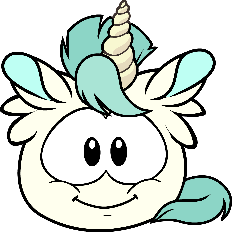 Unicorn puffle - you could turn into these during the medieval party ...