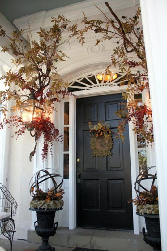 Subtle Sophisticated Fall Decorating Ideas For Your Front Entry Fall Front Door Fall Front Porch Front Door Decor