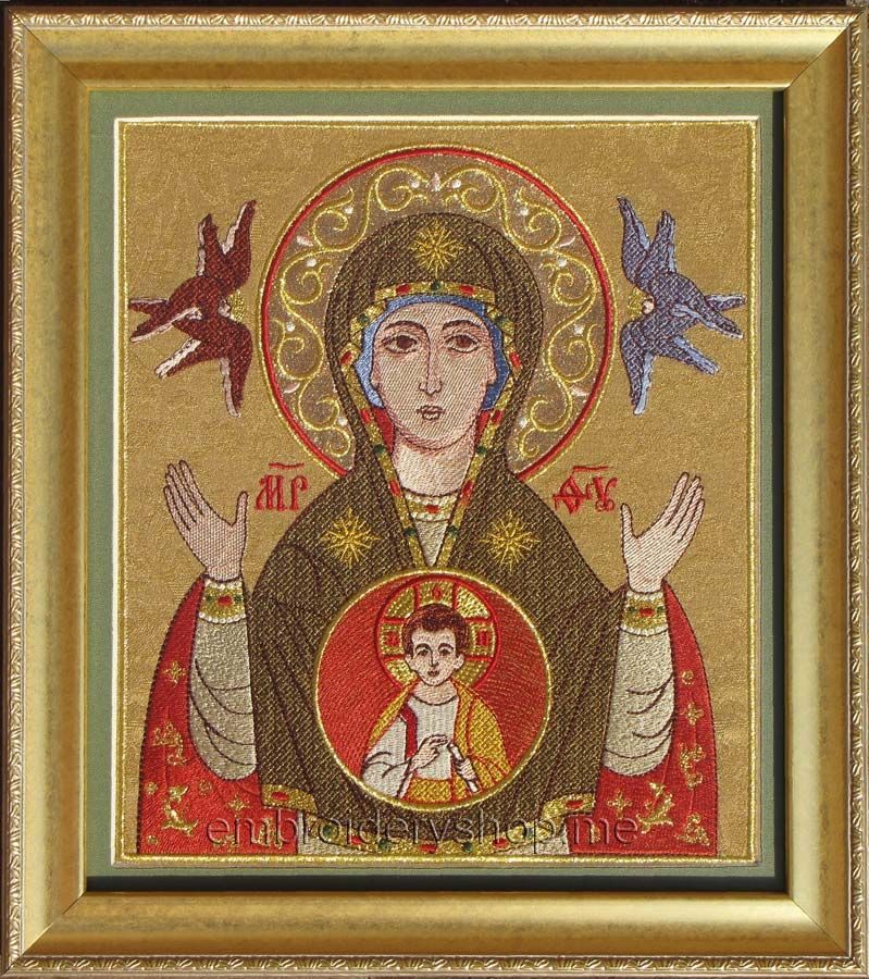 "embroideryshop.me Icon of the Blessed Virgin ""The Sign» smb0017"