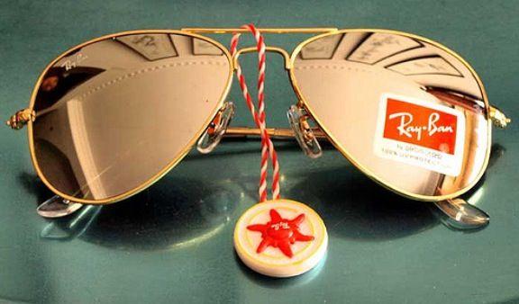 a3b6bd403b8b Ray Ban gold mirrored aviators