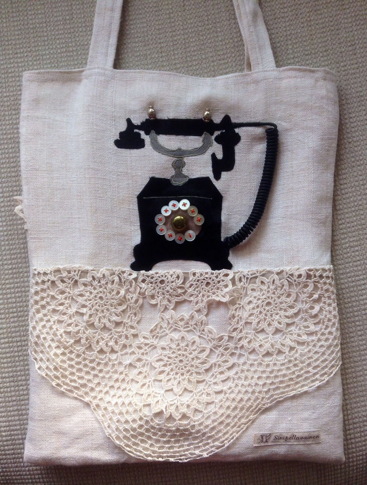 Telefooni-laukku prllavasta Design Sinipellavainen