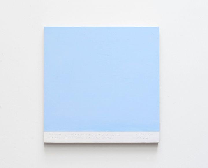 Byron Kim - Exhibit of sky paintings
