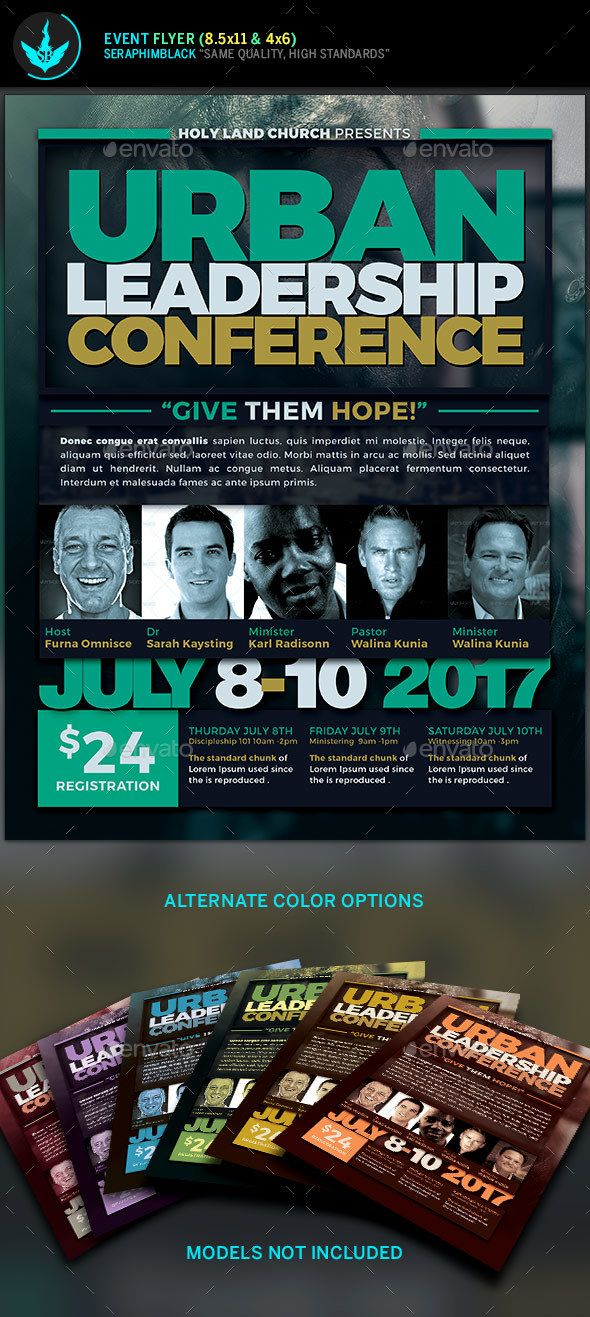 Urban Leadership Conference Church Flyer Template Flyer template - event flyer templates